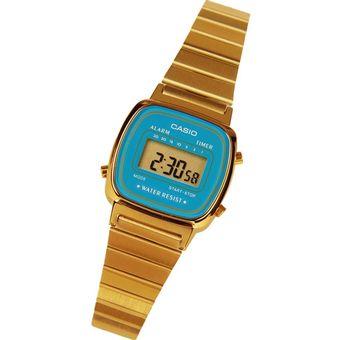 f66ee2572ba7 Compra Reloj Mujer Casio Dorado Digital Vintage Retro - La670wga-6df ...