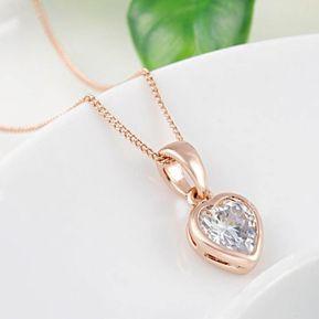 349846a8dcac Collar Corazón Amor Incondicional Enchapado Oro Rosa La Tienda 88 - Oro Rosa