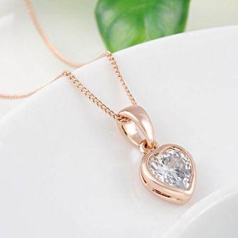 5c1b13e3154d Collar Corazón Amor Incondicional Enchapado Oro Rosa La Tienda 88 - Oro Rosa