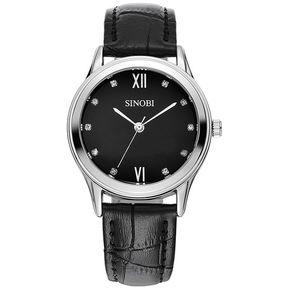 3adff12d9bea SINOBI de las mujeres cristalinas de la manera de pulsera de cuarzo de  importación-reloj
