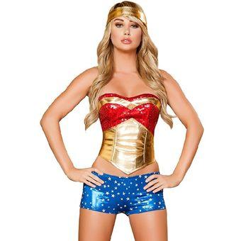 Compra Disfraz de Mujer Maravilla online  cd8615e214a8