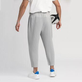 Pantalones Plisados Para Hombres Para Hombre Tela Elastica Japonesa Estilo Fino Cordon Flojo Casual Tobillo Longitud Pantalones 9y3050 Xyx Black Linio Peru Ge582fa1ku2z3lpe