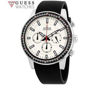 12094f2a4a0f Reloj Guess Fuel W0802G1 Cronometro Acero Inoxidable Correa De Silicona -  Negro