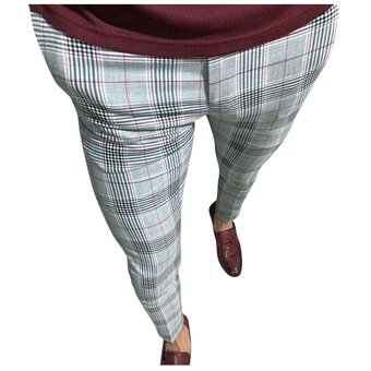 Pantalon Deportivo Para Hombre Pantalones A La Moda A Cuadros Para Hombre Pantalones De Hip Hop Pantalones Flacos Pantalones Informales Ajustados De Estilo Chino Para Hombre Wt Red Linio Peru Ge582fa185bublpe