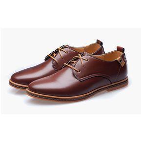 fe6ea4a9 Zapatos de cuero de estilo británico para hombre-Marrón