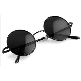 de9b1856d8 Agotado Gafas de sol estilo Vintage Unisex marco lente Retro redondas -Negro