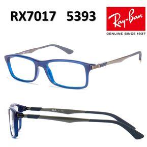 c2caab350a Lentes De Medida Oftálmico Montura Ray Ban RX7017 5393 Blue 54mm