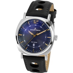 a367f7fd06c1 Reloj JACQUES LEMANS 1-1943K Lugano Collection Análogo Multifución-Negro
