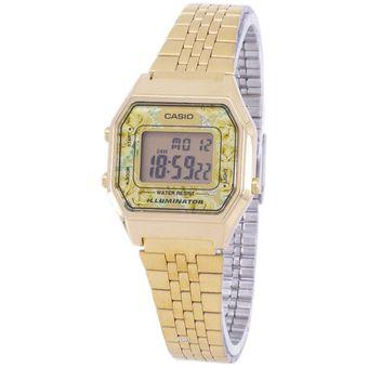 La680wga Verdes Reloj Casio Flores 9 Dorado Para C Dama LpGMUSVqz