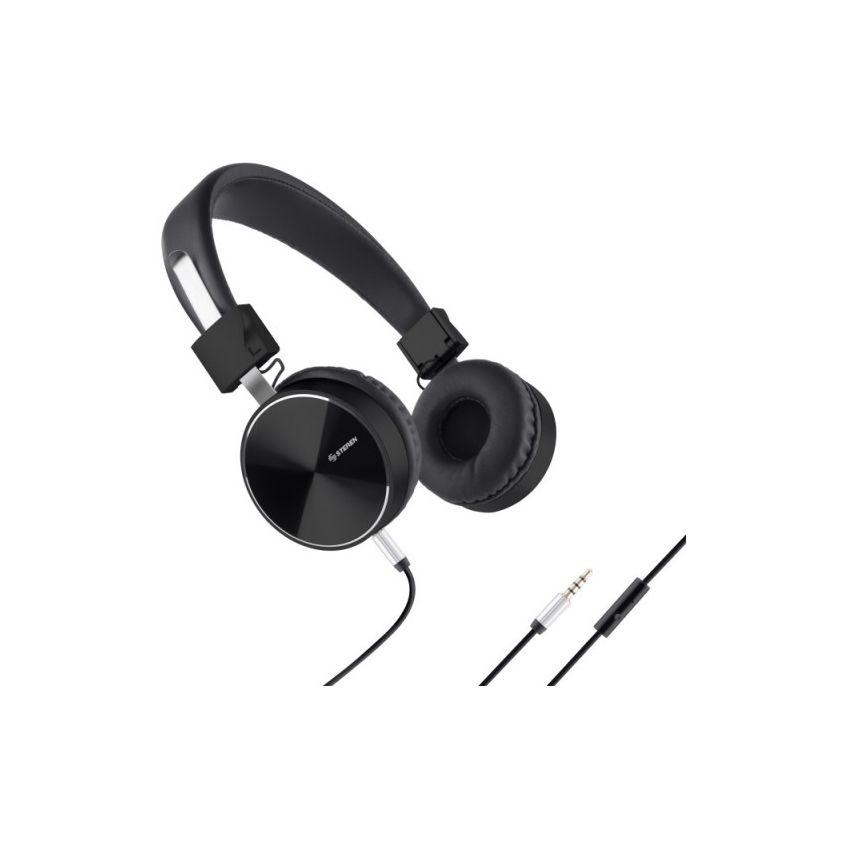 Audífonos Diadema Manos Libres Negro Acojinados Auriculares Steren