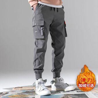 Pantalones Cargo Con Bolsillos Negro Y Bloques De Color Con Cintas Para Hombre Pantalones De Chandal Harajuku Pantalones De Hip Hop Gruesos Wan Linio Colombia Ge063fa130z1vlco