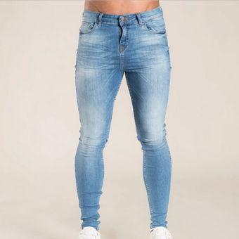Pantalones Vaqueros Informales Lavados A La Moda Para Hombres Pantalones Vaqueros De Hip Hop Para Hombres Pantalones Vaqueros Elasticos De Motero Ajustados Pantalones De Mezclilla Para Hombre Wan Style1 Linio Colombia