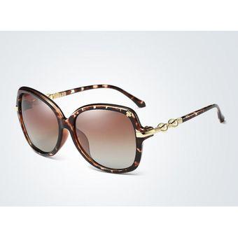Nuevas Gafas De Sol Polarizadas Clásicas De Las Mujeres-Estampado De  Leopardo 22cde651bc9a