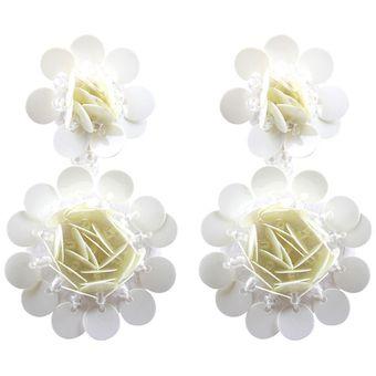 ace1cecc081f Compra EY Moda chicas joyas aretes estilo versátil- Blanco  online ...