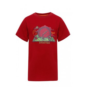 Polera Niño Adventure Cotton T-Shirt Rojo Oscuro Lippi