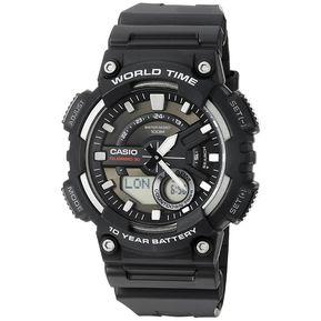 c7c213215592 Reloj Casio AEQ-110W-1A Para Caballero Negro  Plateado