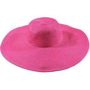 E-Thinker Sombrero Para El Sol Para Playa Sombrero Grande Gorra-Rosa 9136b655d15