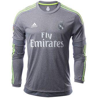 Compra Jersey Adidas Real Madrid De Visitante Manga Larga Gris ... 4c16d76217b53