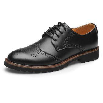 Compra Zapatos Hombre De Vestir Con Tallado - Negro online  418d13c7d86