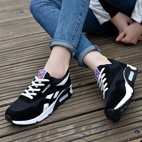 5ff9cb488d9 Cojín De Aire De La Mujer Sneakers Zapatos Coreer Para Mujeres-Negro