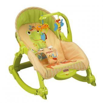 13b166750 Silla Mecedora Vibradora Para Bebe Crece Conmigo Portatil Fisher Price  T2518-Verde