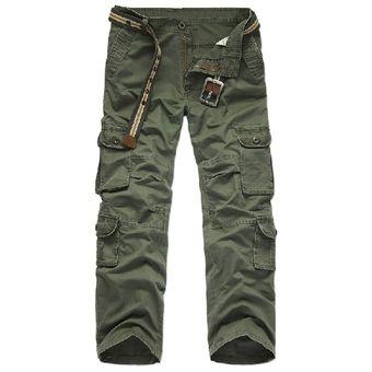 Pantalon Militar Cargo Para Hombre Bolsillos Multiples Pantalones Casuales Verde Linio Mexico Ge598fa10w79glmx