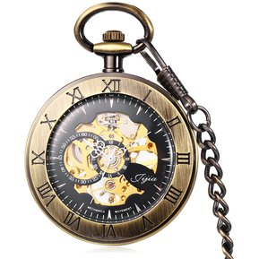 90ddaefdd Jijia Hollow Out Mecánica Reloj De Bolsillo Cadena De La Tabla