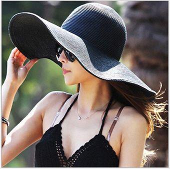 Compra Sombrero De Playa Para Mujer E-Thinker - Negro online  0b82b1f6e9f