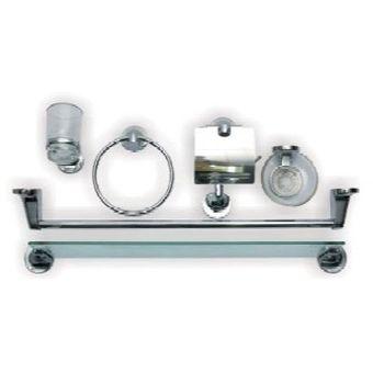 Compra Accesorios Baño Set 7 Piezas Incluye Repisa Vidrio-Cromado ... a553983a3e61