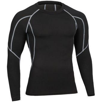 49c75dd37b1 Ropa Deportiva Hombre Gym Manga Larga Secado Rápido Camiseta de la  Compresión