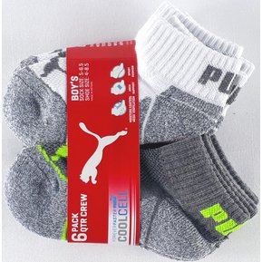 Calcetines Puma Athletic 6 Pack Para Niños Verde  Blanco fd6f49184b541