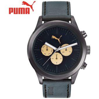 56d519dc2e03 Compra Reloj Puma Around PU104281001 Acero Inox. Correa De Cuero ...