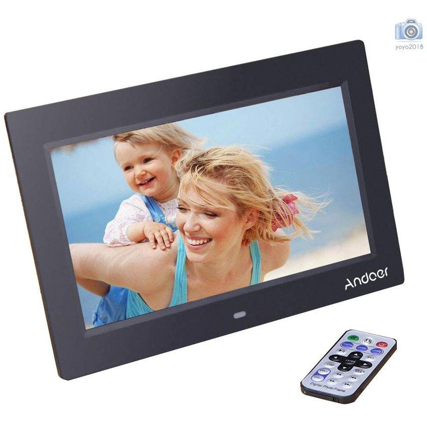 15/'/' HD LCD Marco Fotos Digitales MP4 AVI Reproductor Escritorio Remoto Blanco