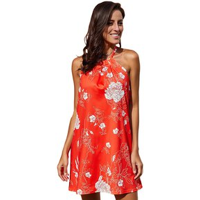 8ed5051f4b Mujer Vestido Casual para Playa Tailun-cool-Rojo floral