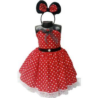 Disfraz Para Niña Personajes De Disney Minnie Mouse Disfraz Para Niña Vestido Para Niñas