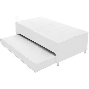 Compra cama nido con colchones incorporados 140x190 for Cama nido con colchones