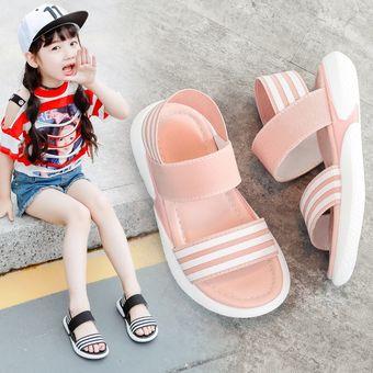 391efe39 niñas sandalias niños playa zapatos bebé niña princesa zapatos Rosa