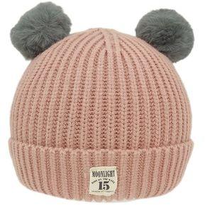 Sombreros de lana tejida neonatal ronda caliente Niños Niños Unisex Cómoda  tapa Rosa d6a91a8d5d3