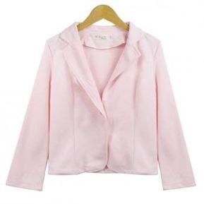 1a418dc365d6 Chaqueta Blazer Yucheer Manga Larga OL Ropa para Mujer - Rosa