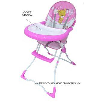 Silla Comedor Bebe Oferta Plegable Niña Infantil Spectrum-Rosado