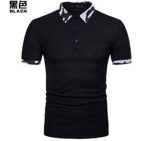 24154ad8a9e11 Camisa Hombre Polo De Primavera Casual Tops Hombre Y Verano De Los-Negro