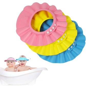 Gorro Visera De Ducha Para Baño Bebé Niño Protege Sus Ojos Del  Shampoo-Amarillo 84469e47deb
