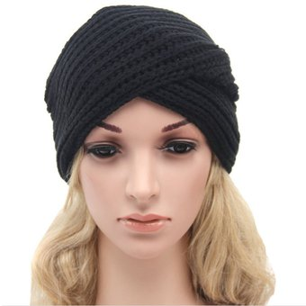 e663b130ba86c Compra Turbante tejido gorro mujer beanie invierno - Negro online ...