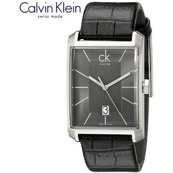 Correa De Window Reloj Suizo Klein Cuero Calvin Acero Negro Inoxidable K2m21107 nvm8wON0
