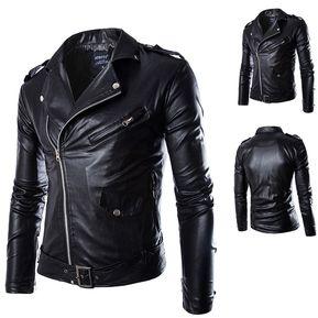 Abrigo de chaqueta de moto de hombre Parka de chaqueta de moto-Negro 950a3e533dc
