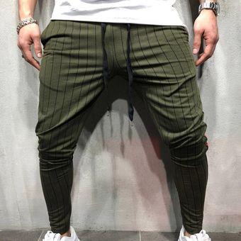 Pantalones A Rayas Ajustados A La Moda Pantalones A Rayas Negras Y Rojas Para Hombre Pantalones Para Correr Para Hombre Pantalones De Chandal Para Hombre Pantalones Para Hombre Wot Green Linio Colombia