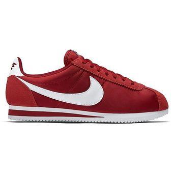 Hombre Classic Tenis Nike Nylon Rojo Deportivos Cortez Fc3l1JKT