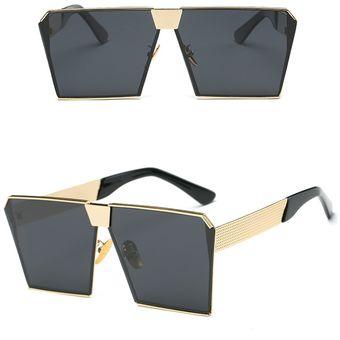 e33ac63a40 Compra Gafas De Sol Cuadradas Anti-UV Para Mujer -Dorado Y Negro ...