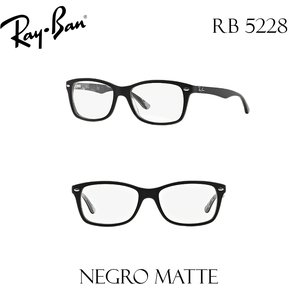4a83dcaa5a Lentes Monturas Ray Ban RB 5228 Negro Matte Oftalmicos