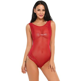 f1d41af73d Lencería Pijama Ropa De Dormir Sexy Perspectiva Yucheer Para Mujer-Vino Rojo